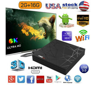 T95 MAX Smart Quad Core 6K TV Box WiFi 2G+16G Android 8.1 3D Home Movies Player