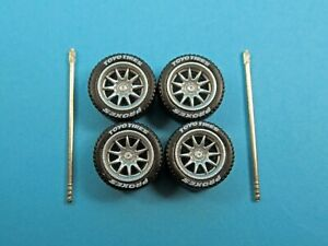 164 Wheels 164 Wheel and Tire Set Real Riders Volk Racing CE28 Silver