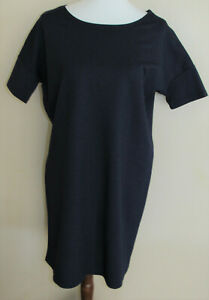 HATCH Maternity Made in New York Blue Knit T Shirt Everyday Dress sz Petite
