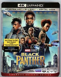 Black Panther (4K Ultra HD Blu-ray Digital 2018) NEW with slipcover!