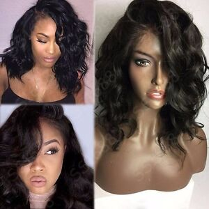 Elegant 360 Lace Frontal Wig Pre Plucked Unprocessed Indian Virgin Human Hair sm