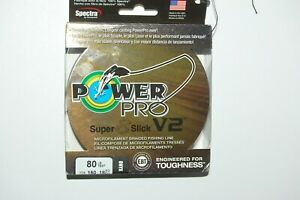 power pro braided fishing line super 8 slick V2 80lb 150yd spool onyx