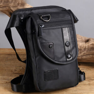 Men Drop Leg Bag Motorcycle Rider Tactical Military Thigh Pouch Hip Pack