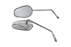 Rectangle Mirror Set with Round Long Stems,for Harley Davidson,by V-Twin