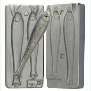 Fishing lead lure mold 80-110 gr pike sinker lures