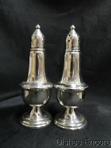 Empire Weighted Sterling Silver: Set of Salt & Pepper Shakers, 5