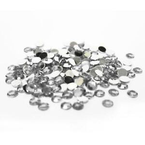 Silver Flat Back Faceted Round Rhinestones | Approx. 4200 Pieces