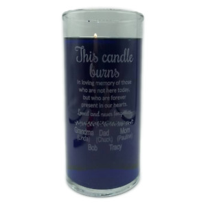 Memorial Candle Personalized Engraved Gift CUSTOM Holder Wedding Remembrance