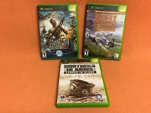 Original Microsoft XBox Game Lot of (3) Medal Honor Brothers Arms Secret Weapons