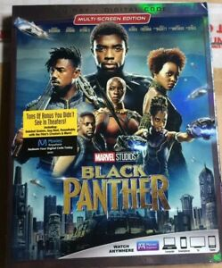 Black Panther (Blu-Ray Disc + Digital Code 2018 ) *Brand New With Slipcover*