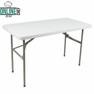 Folding Table 4ft Small Sturdy Heavy Duty Plastic Indoor Outdoor Party Banquet