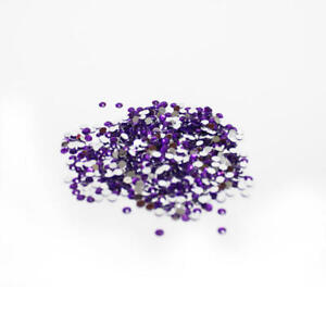Purple Flat Back Faceted Round Rhinestones | 17280 Pieces