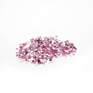 Pink Flat Back Faceted Round Rhinestones | 17280 Pieces