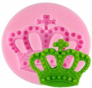 Mini Crown with Cross Silicone Mold, Candy, Fondant, Cake Decorating