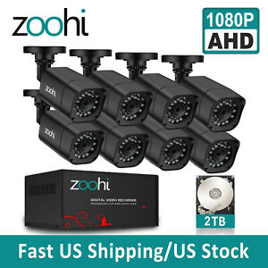 ANRAN 8CH 1080P Wireless Security Camera System HD 2MP WIFI NVR CCTV Outdoor 2TB
