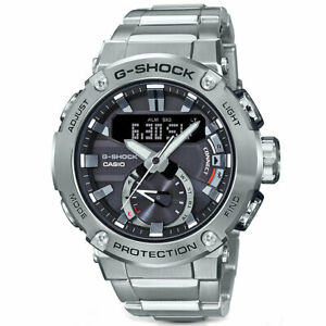 Casio G-Shock Men's G-Steel GSTB200D-1A Analog-Digital Watch Silver Sports