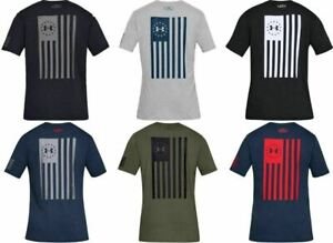 Under Armour 1333365 Mens Athletic UA Freedom Flag Bold T Shirt Short Sleeve Tee $22.89