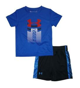 Under Armour Toddler Boys SS Ultra Blue Dry Fit Top 2pc Short Set Size 2T
