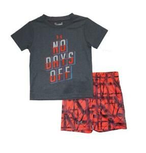 Under Armour Toddler Boys SS Multi-Color No Days Off Top 2pc Short Set Size 2T