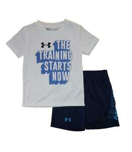 Under Armour Toddler Boys SS The Training Starts Here Top 2pc Short Set Size 2T