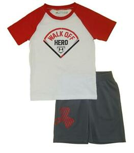 Under Armour Toddler Boys SS Walk Off Hero Top 2pc Short Set Size 4T