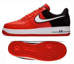 New NIKE Air Force 1 Low LV8 Shoes Mens red black sizes 9.5-12