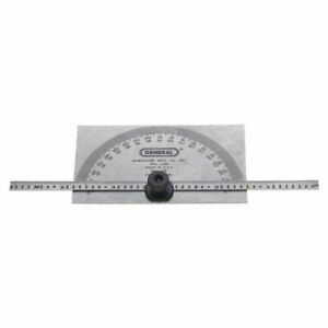 General Tools 19 Dual Purpose Protractor and Depth Gage 0 180 deg Stainless $28.65