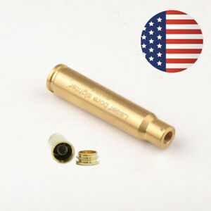 US Visible Brass Bullet Red Laser Cartridge Bore Sighter CAL 8mm Boresight Rifle