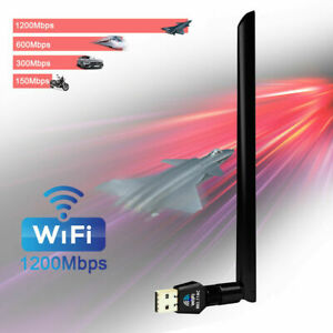 1200Mbps USB Wireless Wifi Network Adapter Dongle Dual Band 2.45Ghz Antenna
