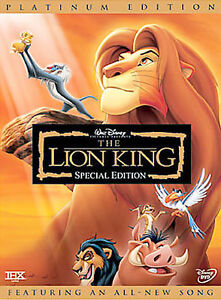 The Lion King (DVD, 2003, 2-Disc Set, Platinum Edition) Disney New- Sealed!