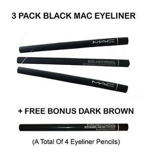 4 PACK - MAC Eyeliner Waterproof Pencil -Black - M.A.C. Retractable Eye Liner