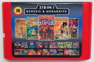 Super 218 in 1 Sega Genesis & Mega Drive Multi Cart 16-Bit Game Cartridge
