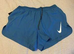 """*NEW WITH TAGS* NIKE AEROSWIFT 4"""" SHORTS MENS COLOR BLUE 892897-435 Large"""