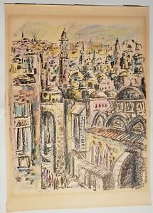 AP ARTIST PROOF LIMITED EDITION 215 SIGNED LITHOGRAPH BY YOSSI STERN CITYSCAPE $109.95