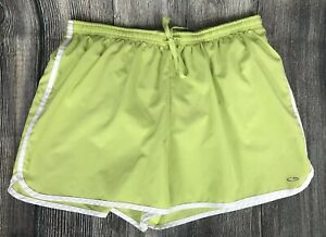 Champion Women's Running Shorts *Size Large* Lime Green ~ Lined ~ Media Pocket