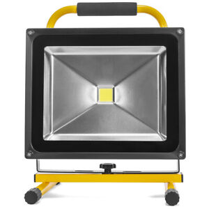 Rechargeable LED Work Light 50W Cordless Portable COB Flood Light with Handle