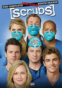 Lot of 100 Scrubs: The Complete Ninth  Final Season (DVD 2010 2-Disc Set) New