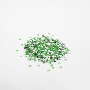Apple Green Flat Back Faceted Round Rhinestones | 17280 Pieces