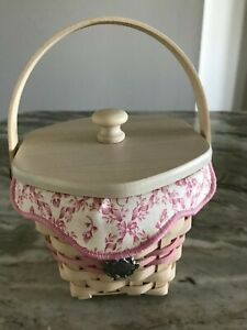 Longaberger Whitewashed Horizon Of Hope Basket (E)