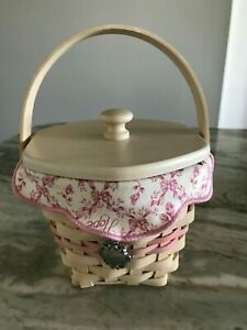 Longaberger Whitewashed Horizon Of Hope Basket (F)