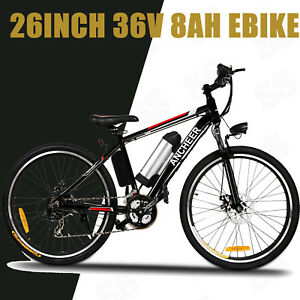 Upgrade 26'' Ebike Electric Bike ANCHEER City Mountain Bicycle Cycling 500W 2019