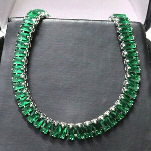 Gorgeous Emerald Bracelet Women Jewelry Wedding Engagement Gift Free Shipping
