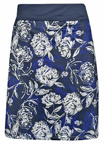 New Callaway Golf- Plus Size Tropical Floral Print Knit Skort Peacoat XLB