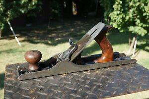 Antique STANLEY No.105 LIBERTY BELL Jack Plane,Smooth Bottom Woodworking Tool