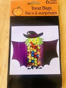 Halloween Wicked Witch Treat Bags 6 Count Party Supplies Trick Or Treat NEW