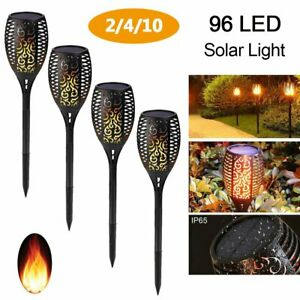 96 LED Solar Torch Lights Outdoor Dancing Flickering Flame Waterproof for Patio