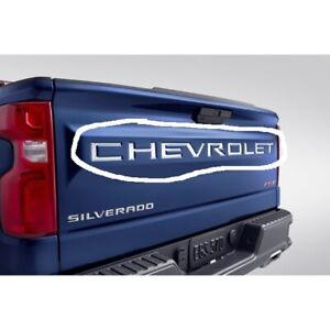 New Silverado Stainless Steel Chevrolet Tailgate Decal 19417967 OEM 2019 2020
