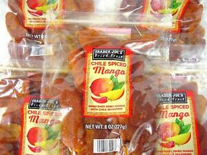 Trader Joe's Chile Spiced Mango Dried Fruit 1 2 3 4 5 Bag Bags New