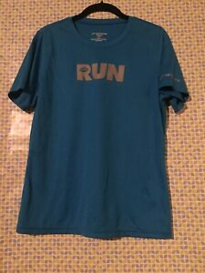 Brooks Women's Blue Short Sleeve Running Shirt Top Size L