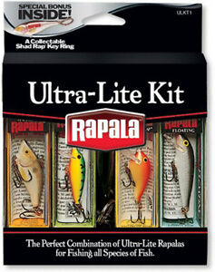 Rapala Ultra Lite Kit Fishing Lures with Collectable Shad Rap Key Ring New